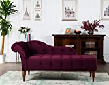 Product review for Jennifer Taylor Home Samuel Collection Traditional Hand Tufted Right Arm Facing Chaise Lounge, Burgundy