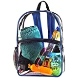 2964cffc1e Amazon.com  Bags for Less Clear PVC Backpack with Royal Blue Trim ...