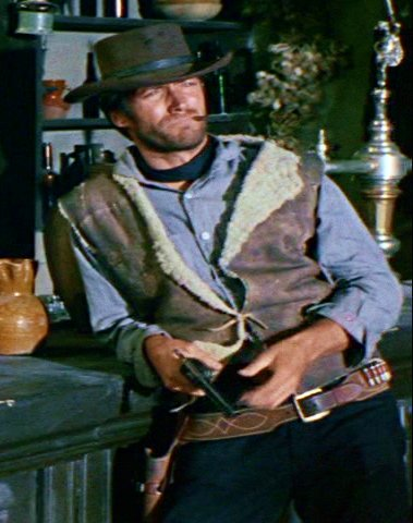 Clint Eastwood Holster Rig - Premium Cowboy Western Gun Belt Replica - A  Fistful of Dollars, The Good the Bad and the Ugly - Great Gift