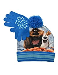 Beanie Cap - Secret Life of Pets - Max Blue w/Gloves Set Youth/Kids Hat 135724