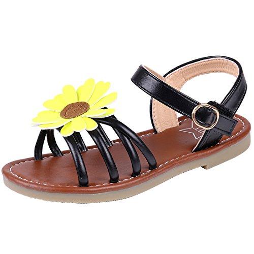 43cc4675311 Litfun Kids Girls Cute Flower Open Toe Flat Strap Summer Sandals (Toddler Little  Kid