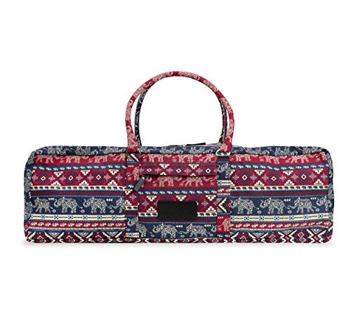 Yogi Path Yoga Mat Bag - Patterned Duffle Bag with Zipper and Pocket (Imperial)