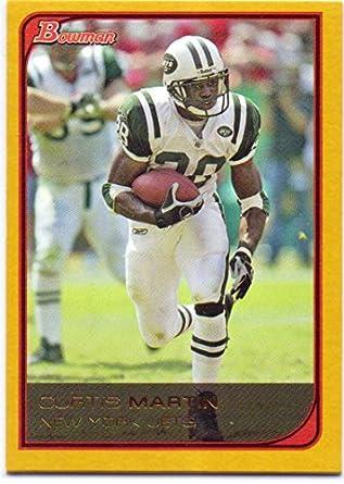 3546bcb4563 Curtis Martin 2006 Bowman Gold #36 - New York Jets at Amazon's ...