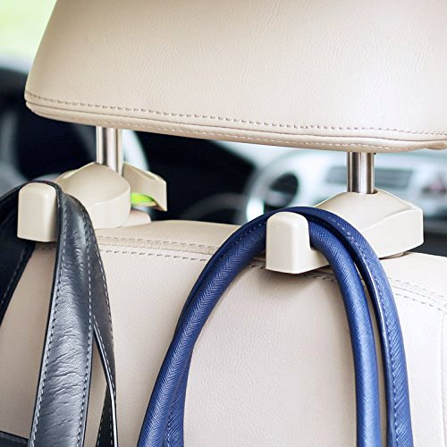 IPELY Universal Car Vehicle Back Seat Headrest Hanger Holder Hooks (Beige -Set of 2) (Car Headrest Dvd Player Beige compare prices)
