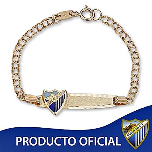 Bracelet Málaga CF loi bouclier esclave 9k or bébé vitrage [8731GR] - Modèle: 0560-045 - personnalisable - ENREGISTREMENT inclus dans le prix