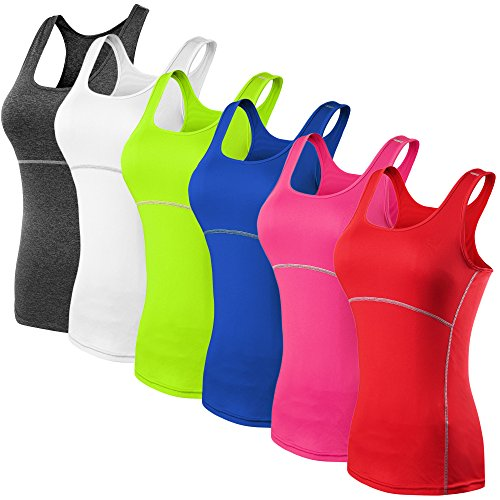 workout Products : Neleus Women's 3 Pack Dry Fit Compression Long Tank Top
