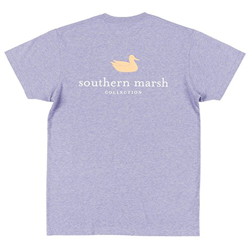 Southern Marsh Authentic Youth Short Sleeve Pocket T-Shirt-Washed Berry-YM