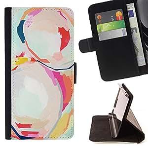 Momo Phone Case / Flip Funda de Cuero Case Cover - Pintura Arte Arte Moderno de la acuarela - Samsung Galaxy S6 EDGE