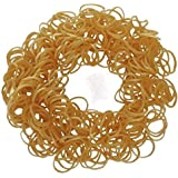 ETHAHE 600pcs Metallic Gold Latex-free Loom Refill Rubber Bands Pack Bracelets with 24 S-Clips & 1 Hook