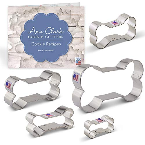 Dog Bone Cookie Cutter and Biscuit Set with Recipe Booklet - 5 piece - 2