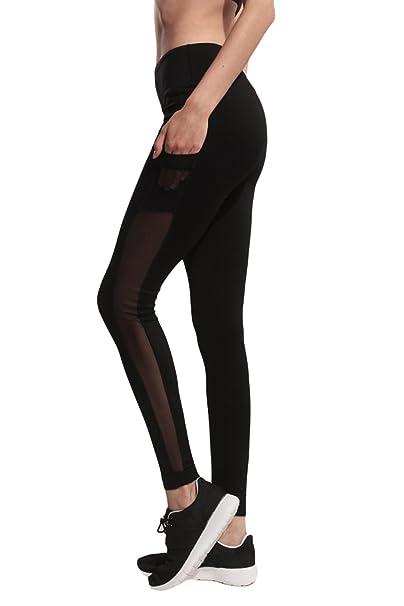 Amazon.com: Happyyip Womens Mesh Workout Sports Pants Gym ...