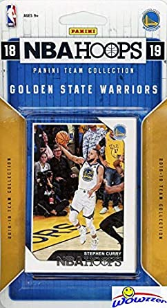 7af1edca3c204 Golden State Warriors 2018/2019 Panini Hoops NBA Basketball EXCLUSIVE  Factory Sealed Limited Edition 9 Card Team Set with Stephen Curry, Kevin  Durant, ...