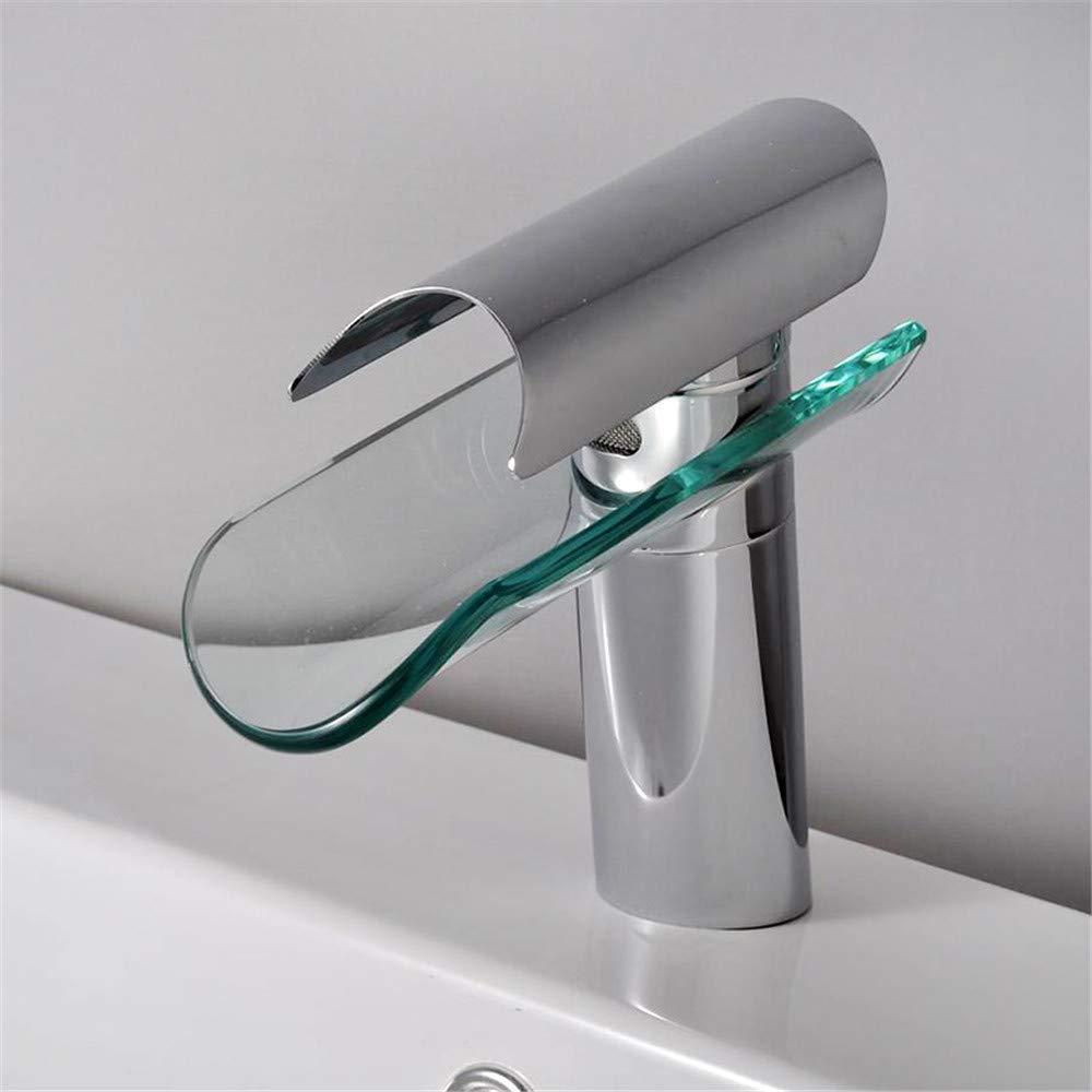 Eeayyygch Edelstahl Griffe Glas Becken Wasserhahn Aufzug Kai Bad Kabinett Becken Wasserhahn Mixer Simplex (Farbe   -, Größe   -)
