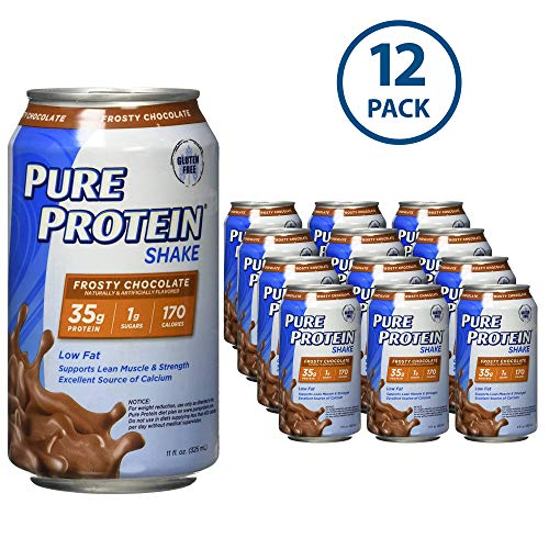 (Pure Protein Ready to Drink Shakes, High Protein Frosty Chocolate, 11oz, 12 count )