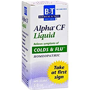 Boericke tafel alpha cf cold flu liquid 1 - Subject alpha cf ...