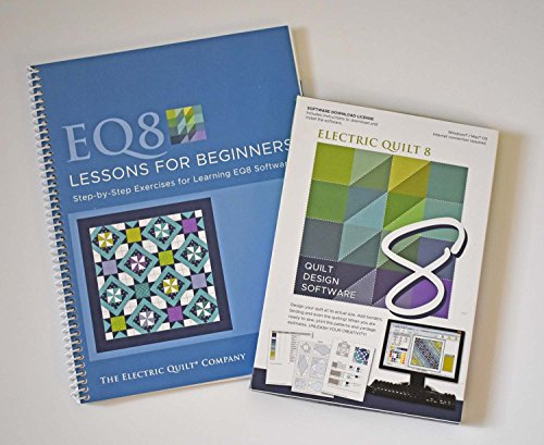 Electric 8 Quilt Software and EQ8 Lessons for Beginners Book Bundle (Quilt Software Design)