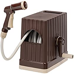 IRIS USA, Inc. FHEX-15 Hose Reel Set, Hose with Nozzle, 48 ft, Brown