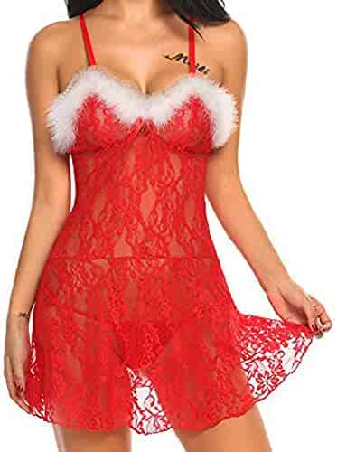 6cbf3e8853 Iuhan Womens Lingerie Dress for Sex Christmas Sexy Racy Temptation Underwear +Briefs
