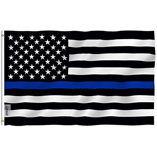 Anley |Fly Breeze| 4x6 Foot Thin Blue Line USA Flag - Vivid
