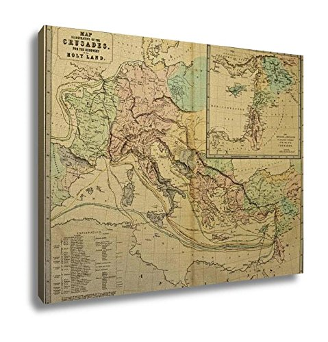 Ashley Canvas, Holy Land Ancient Map Of The World Ancient Map Of The World P, Home Decoration Office, Ready to Hang, 20x25, AG6262435 by Ashley Canvas