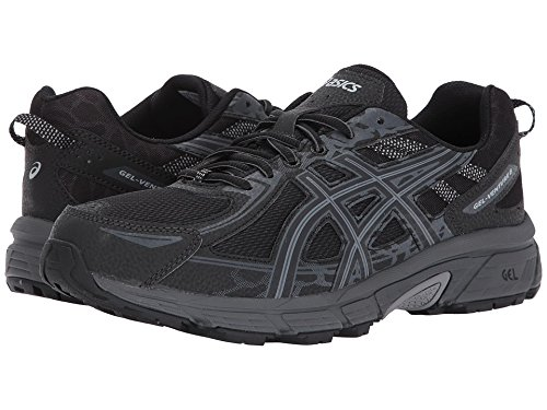 ASICS Mens Gel-Venture 6 Running Shoe, Black/Phantom/Mid Grey, 10.5 4E US
