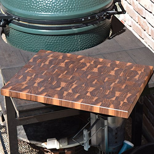 Handcrafted Peruvian Walnut End Grain Cutting Board Large Reversible Chopping Block