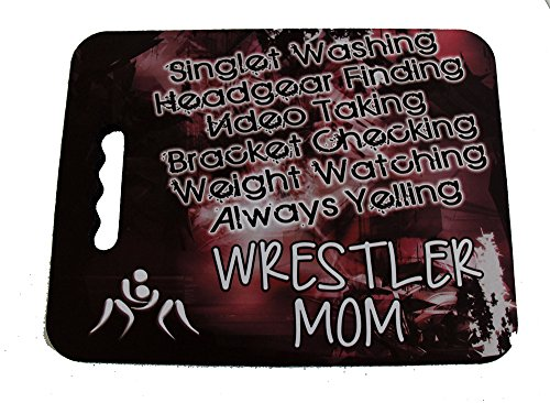 Wrestling Mom Stadium Seat Cushion by Too Dark Motorsports