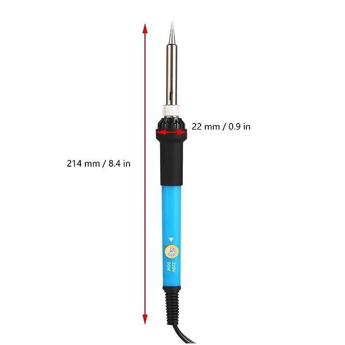 Laileya Regulación de la temperatura del hierro Estación de soldadura de calor de soldadura eléctrica lápiz enchufe de la UE: Amazon.es: Bricolaje y ...