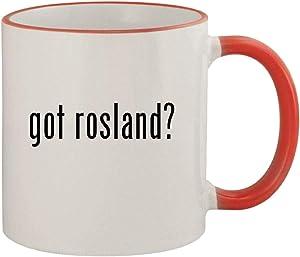 got rosland? - 11oz Ceramic Colored Rim & Handle Coffee Mug, Red