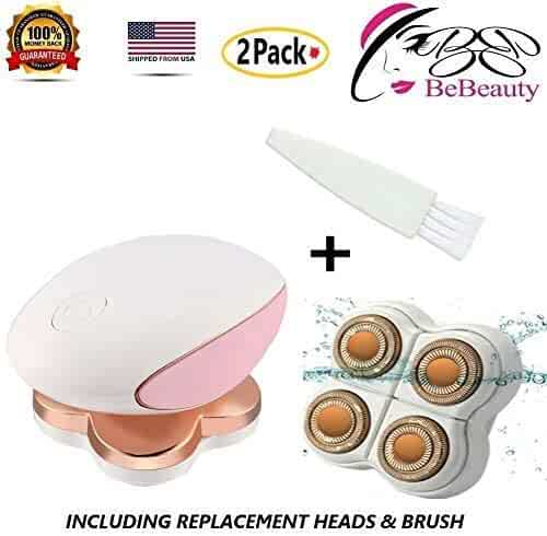 BeBeauty Painless Legs Hair for Women Rechargeable Instant Hair Remover Shaver Trimmer for Body Arm Legs Good Finishing Wet & Dry Prone to Cuts Epilator with Extra Replacement Heads. As Seen ON TV