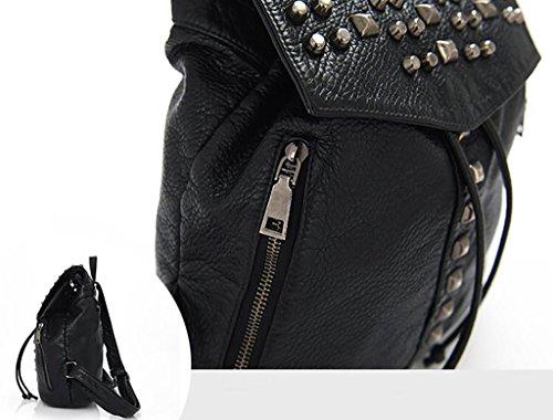 bolso de hombro femenino / mochila remache de la manera