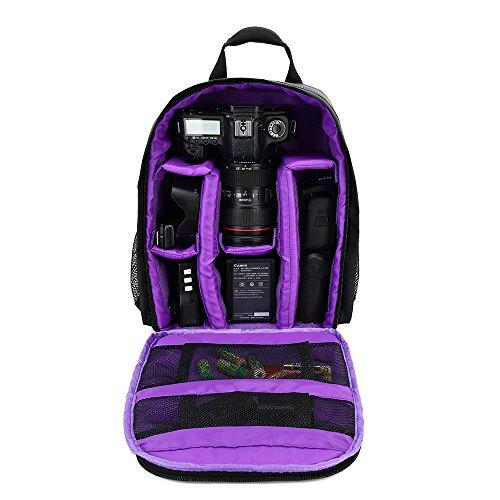 YUIOP - Funda impermeable para cámara réflex digital (Nikon, Sony, Pentax, Olympus, Panasonic, Samsung, y Canon), Púrpura,...