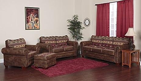 american furniture living room. American Furniture Classics 4 Piece Sierra Lodge Sofa Amazon com