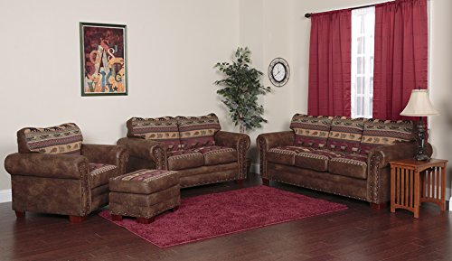 American Furniture Classics 4-Piece Sierra Lodge Sleeper Sofa ()