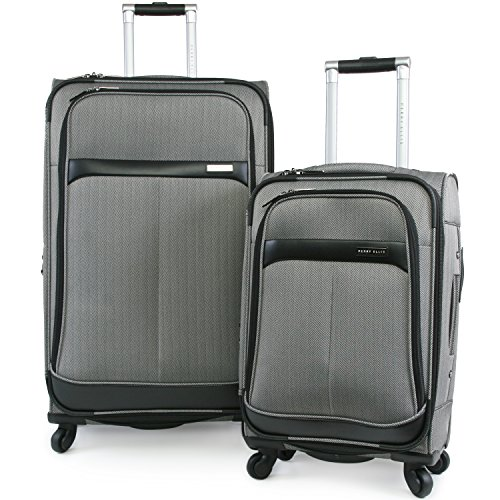 5 Piece Leather Luggage Set - Luggage Marquis 2 Piece Set Expandable Suitcase with Spinner Wheels