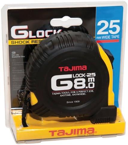 Tajima G5P80MY TAG5P80MY G-Lock Measuring Black 8 Special sale item Tape Inexpensive Yellow