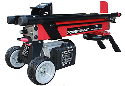 - PowerSmart PS90 Electric Log Splitter, red, Black