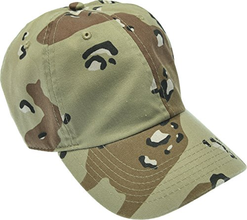 Hand By Hand Aprileo Solid Cotton Cap Washed Hat Polo Camo Baseball Ball Cap [35 Desert Camo](One Size)
