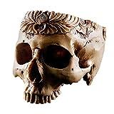 Diamondo Creative Resin Skull Flowerpot Skeleton Antique Ornaments Halloween Supply