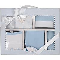 Interbaby SET05-01 - Set Primera Puesta Estrellas Azul Para Recién Nacido 5 Piezas, 340 g