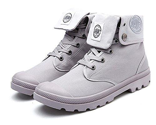 Botas Gris Nieve Lazada Botines de Zapatos Invierno Invierno Moda Martin Otoño Minetom Retro Botas Boots Anti Hombre deslizante UqT1aa