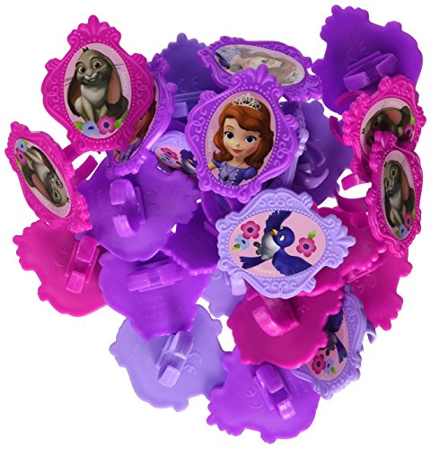 Sofia the First Cupcake Ring Toppers - 24