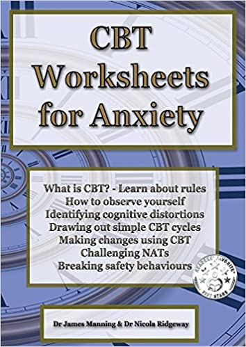Amazon Cbt Worksheets For Anxiety A Simple Cbt Workbook To