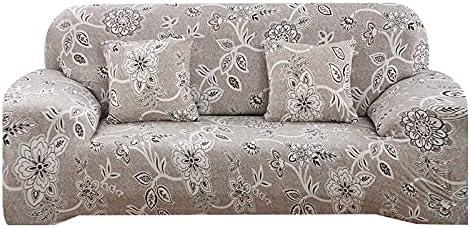 WXQY Funda de sofá Floral con Funda para Cuatro Estaciones, Funda Protectora para Muebles de Sala de Estar, Funda Protectora para sofá A19, 1 Plaza
