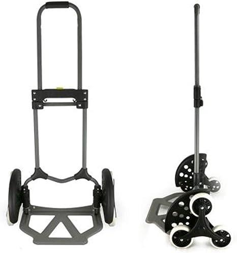 CRZJ Aleación de Aluminio Carretilla Plegable, Carretilla multifunción portátil y Duradera para Bicicleta de montaña, Carritos de Equipaje para el hogar, carros de escaleras, Escalera de Seis Ruedas: Amazon.es: Deportes y aire