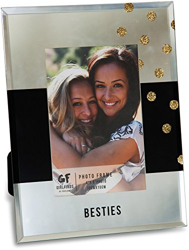 Pavilion Gift Company 75101 Besties Mirrored Photo Frame, 7 x 9 (Photo Best Frame Friends)