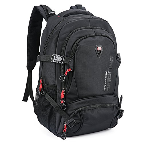 Hiking Backpack Mountaintop 32L Waterproof Durable Travel Backpack Men and Women for Hiking, Camping, Cycling, Biking, Climbing, Hunting, and Outdoor Activities Black