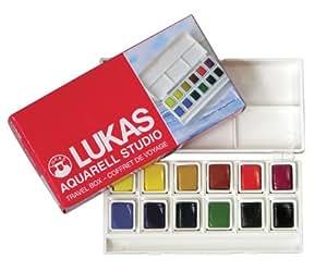 Lukas 68540000 Studio - Caja de pinturas de acuarela (12 colores)