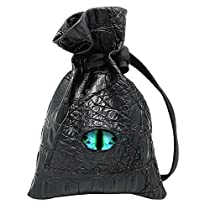 Haxtec DND Dice Bag Dragon Eye Leather RPG Dice Pouch for Metal and Resin Dices