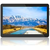 Tablet 10 Inch Android 3G Tablet Computer with Dual SIM Card Slots, 2G/3G Phone Support, 2GB+32GB, 2MP+5MP Dual Camera WiFi GPS Bluetooth, 1.3GHz Quad-core, Black